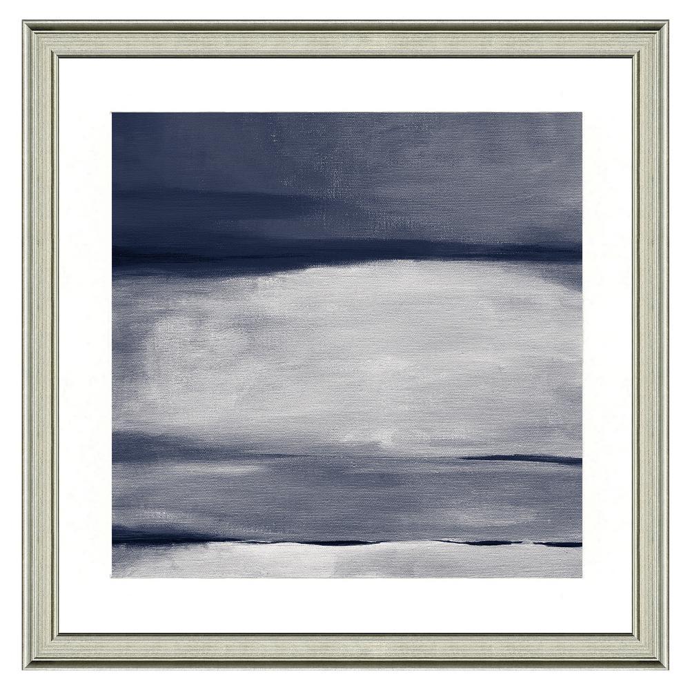 """Gray horizon I"" Framed Archival Paper Wall Art (24 in. x 24 in. in full size)"