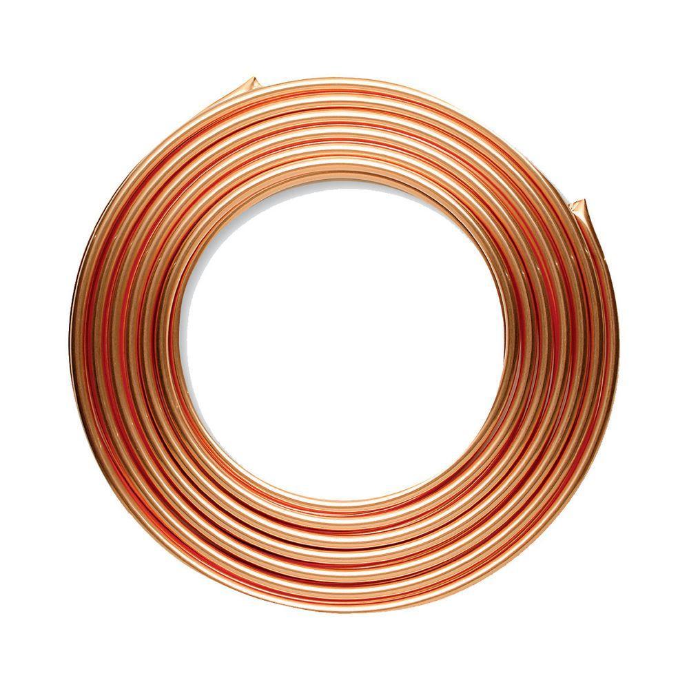 1/2 in. I.D. x 10 ft. Type L Soft Copper Coil Tubing (5/8 in. O.D.)