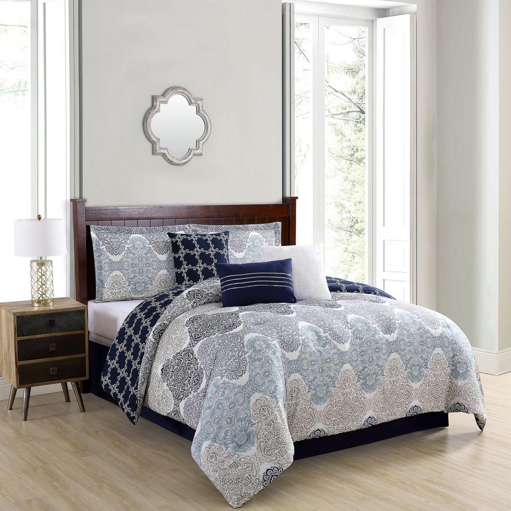 Caspian 7-Piece King Comforter Set