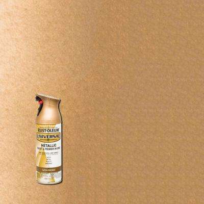 11 oz. All Surface Metallic Satin Bronze Spray Paint and Primer in One (6-Pack)