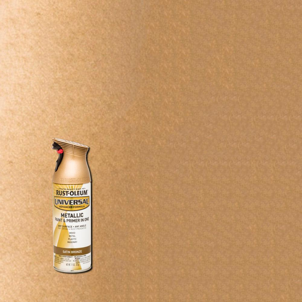 Rust Oleum Universal 11 Oz All Surface Satin Bronze Metallic Spray Paint And Primer In One