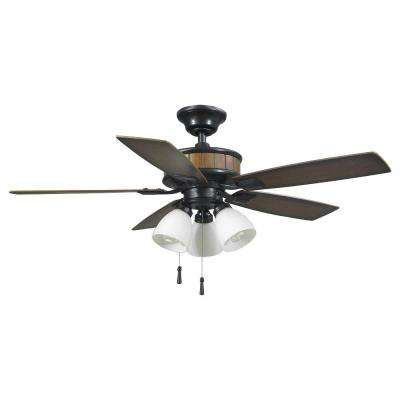 Riverwalk 42 in. LED Indoor/Outdoor Natural Iron Ceiling Fan with Light Kit