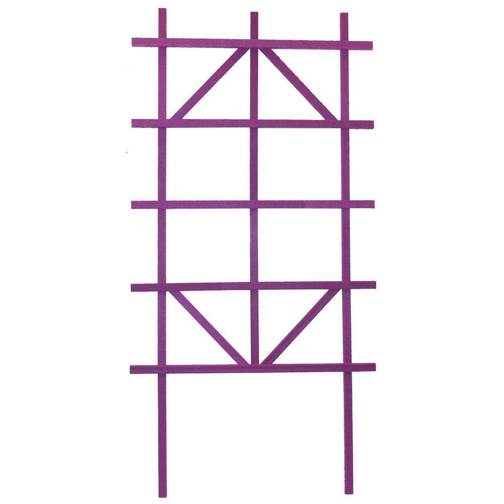Casa Verde 4 ft. Tropical Violet Composite Ladder Trellis