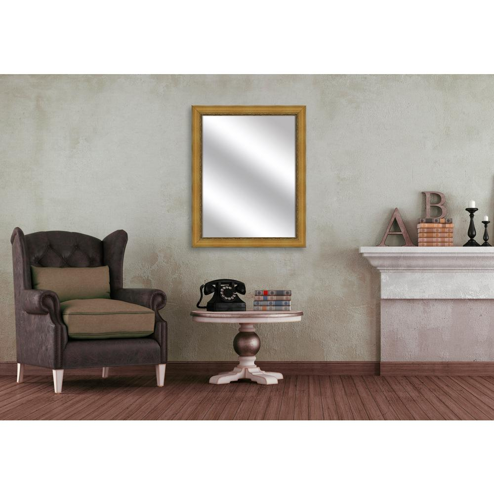 32.375 in. x 26.375 in. Antique Gold Framed Mirror