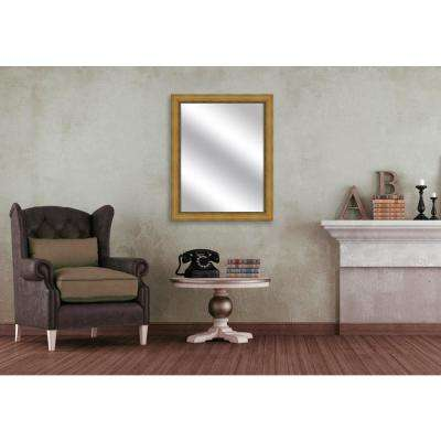 32.375 in. x 26.375 in. Antique Gold Framed Mirror