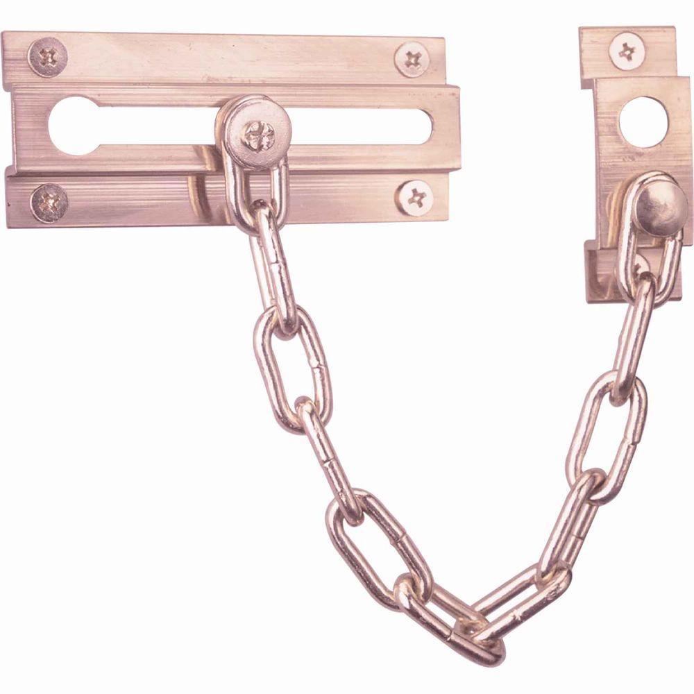 Prime-Line Solid Brass Chain Door Guard  sc 1 st  The Home Depot & Prime-Line Solid Brass Chain Door Guard-U 9907 - The Home Depot pezcame.com