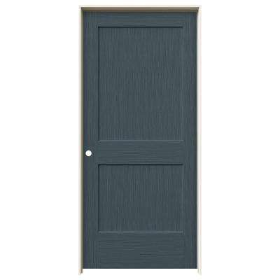 36 in. x 80 in. Monroe Denim Stain Right-Hand Solid Core Molded Composite MDF Single Prehung Interior Door