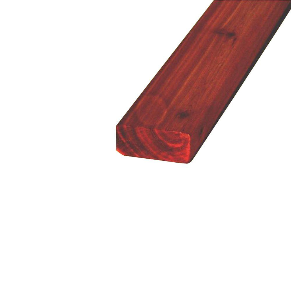 144 in. x 4 in. x 17/100 ft. WRC Pre-Stained Smooth