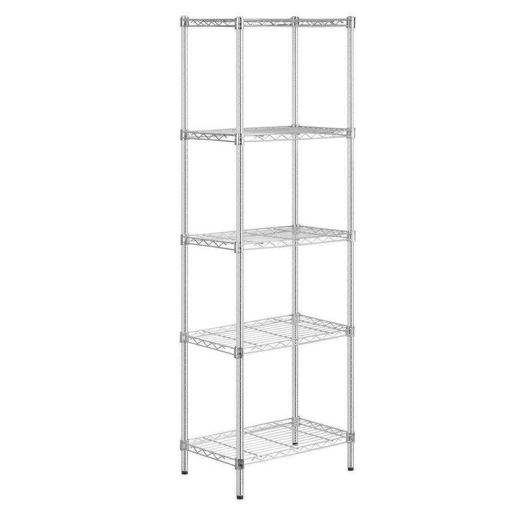 72 in. H x 24 in. W x 14 in. D 5-Shelf Steel Shelving Unit in Chrome
