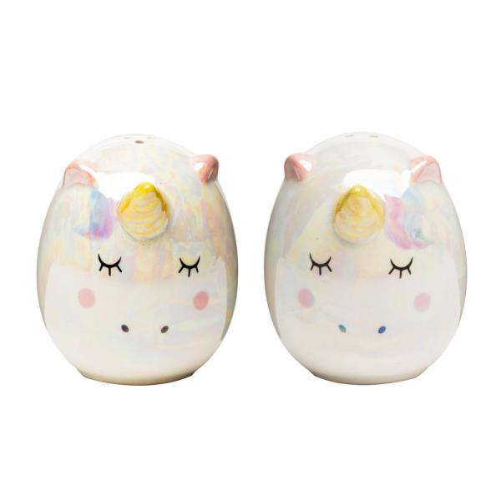 Amici Home Unicorn 3 oz. Multicolor Ceramic Salt and Pepper Shakers