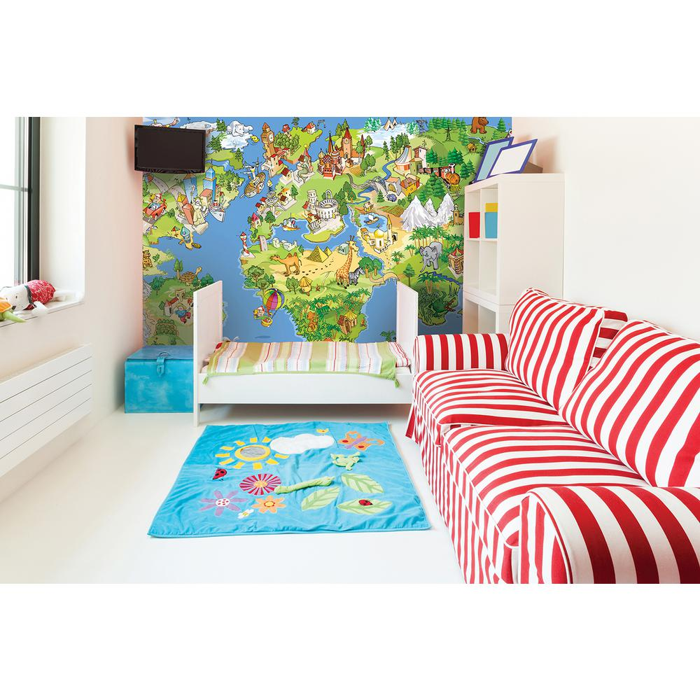 Brewster 118 in x 98 in world wonders wall mural for Brewster wall mural