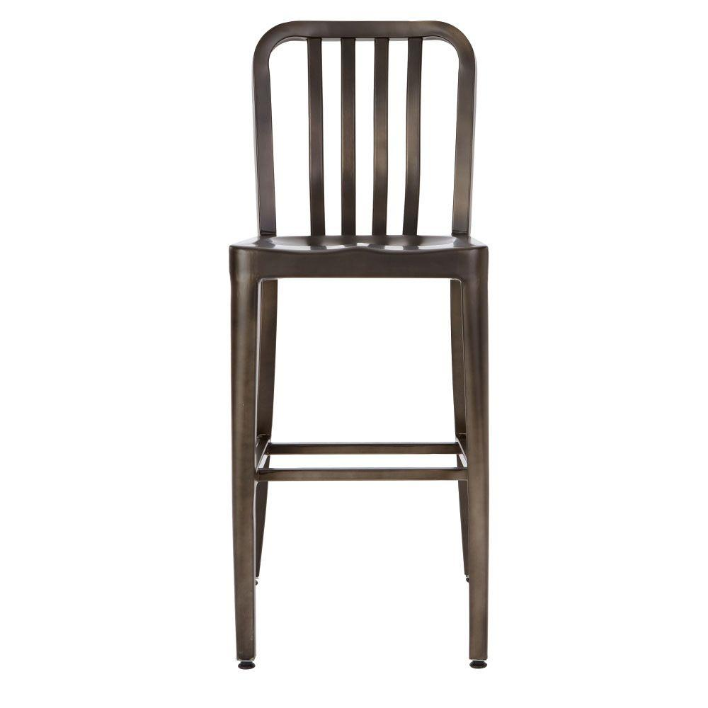 Home Decorators Collection Sandra 37 In H Gun Metal Counter Stool 2478600660 The Home Depot