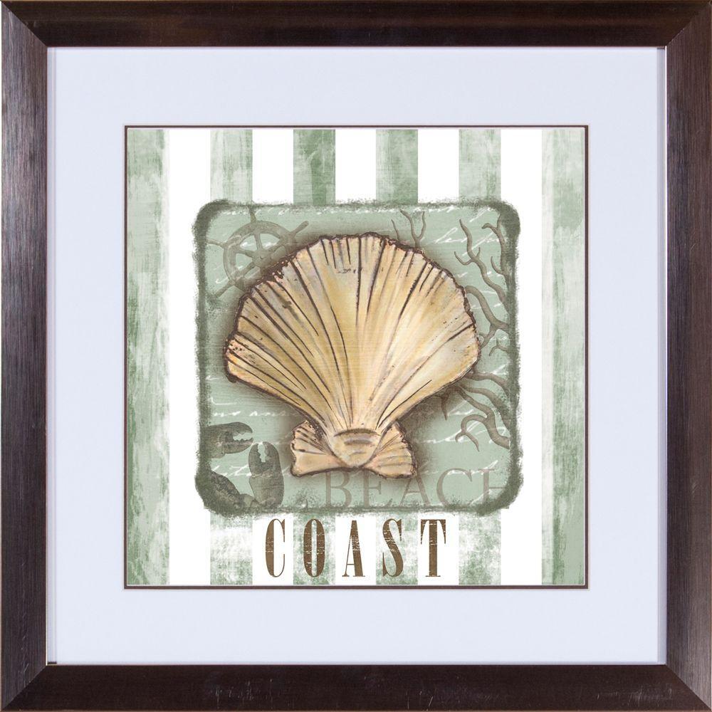 "18 in. x 18 in. ""Coast A"" Framed Wall Art"