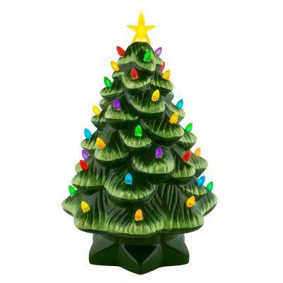 14 in. Nostalgic Christmas Tree in Green