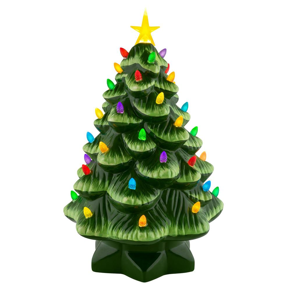 Home Depot Christmas Tree Lot Hours: Mr. Christmas 14 In. Nostalgic Christmas Tree In Green
