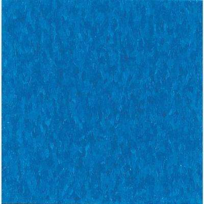 Take Home Sample - Imperial Texture VCT Caribbean Blue Standard Excelon Vinyl Tile - 6 in. x 6 in.