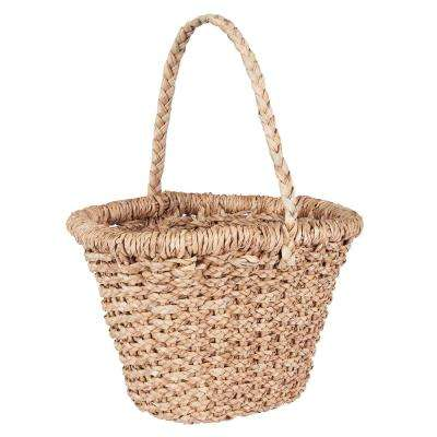Large Wicker Basket Tote with Long Handle