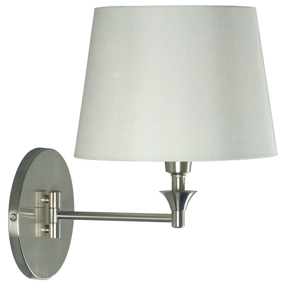 Kenroy Home Martin 1-Light Brushed Steel Wall Swing Arm Lamp