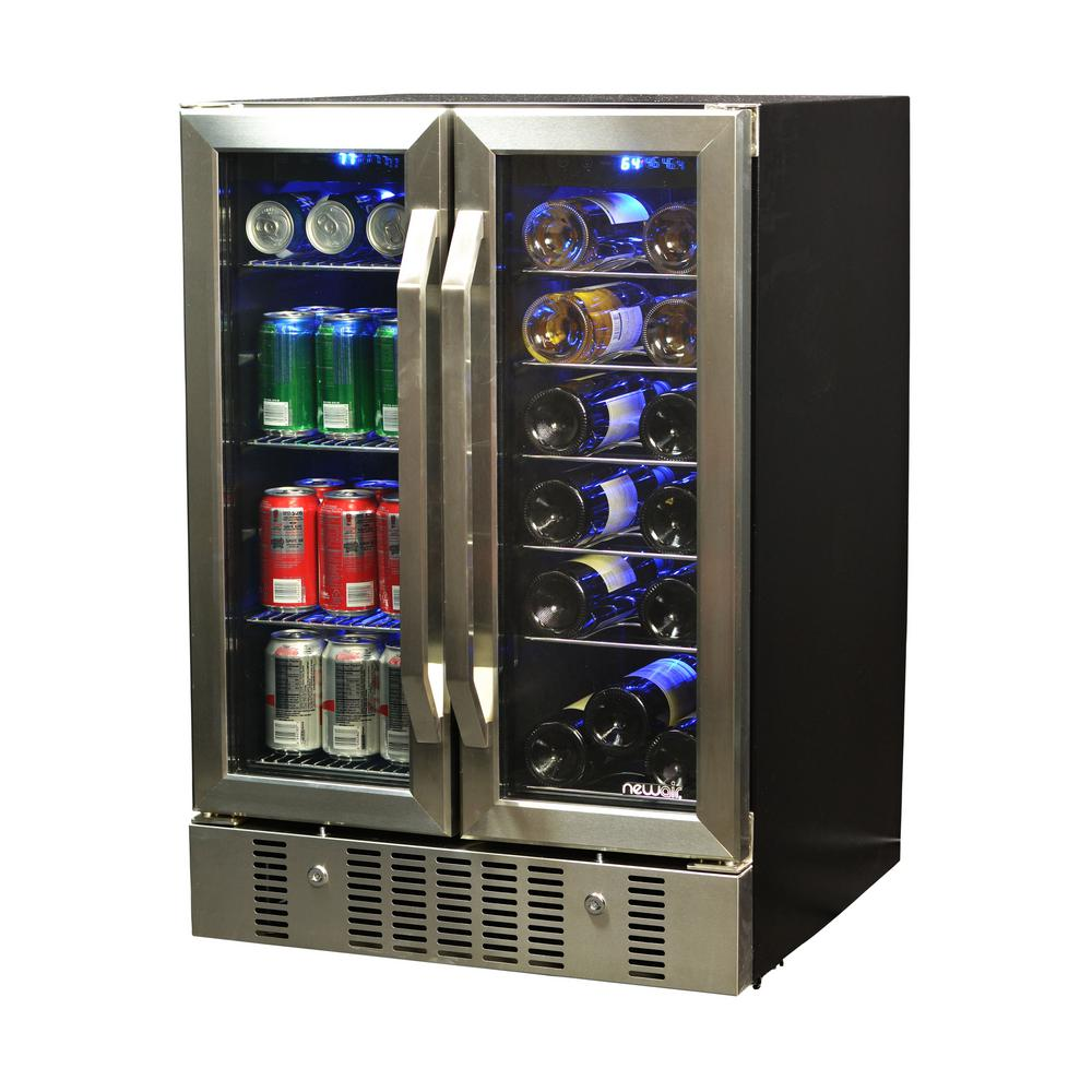 23.5 In. 18 Bottle And 60 Can Dual Zone Built In Compressor Wine ...
