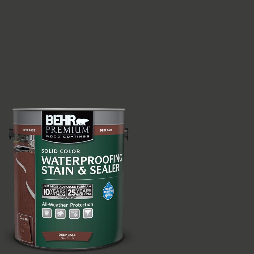 1 gal. #S-H-790 Black Suede Solid Waterproofing Stain and Sealer