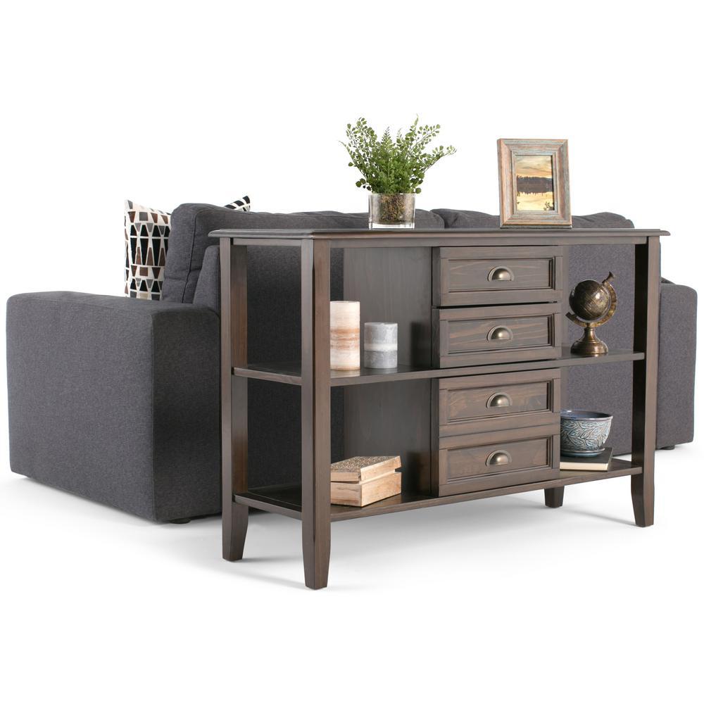 Simpli Home Burlington Rich Espresso Storage Console Table