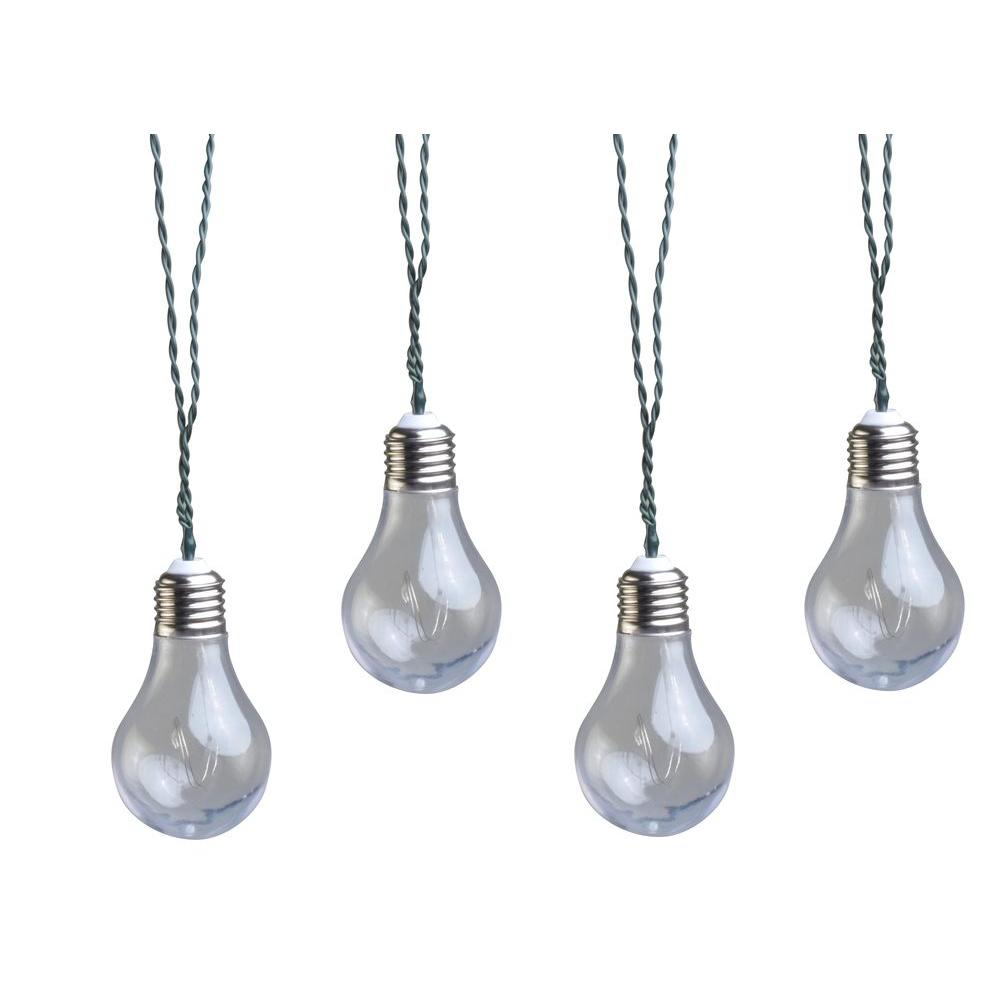 Solar Line Lights Part - 26: Solar Powered LED Clear Vintage Bulb String Light