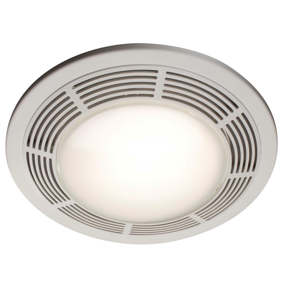 100 CFM Ceiling Bathroom Exhaust Fan with Light and Night Light