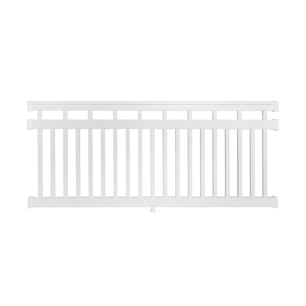 weatherables hallandale 3 5 ft  h x 8 ft  w vinyl white railing kit-wwr-thd42r3-s8