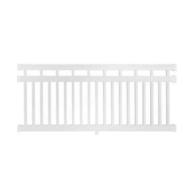 Hallandale 3.5 ft. H x 8 ft. W Vinyl White Railing Kit