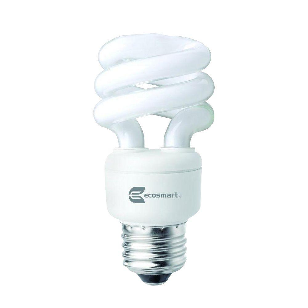 40W Equivalent Daylight  Spiral CFL Light Bulb (4-Pack)