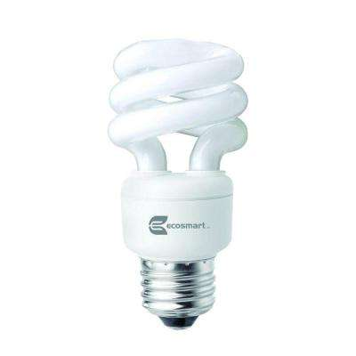 40W Equivalent Daylight  Spiral CFL Light Bulb (4-Pack)