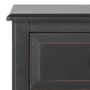Everly Distressed Black Storage Side Table