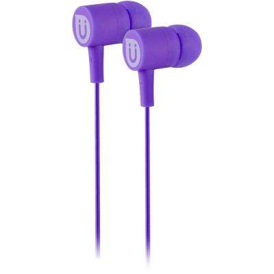 Rubberized Ear Buds - Purple