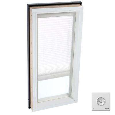 Solar Powered Light Filtering White Skylight Blind for FCM 4646, QPF 4646, VCM 4646, VCE 4646, and VCS 4646 Models
