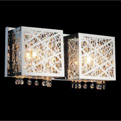 Eternity 2-Light Chrome Sconce