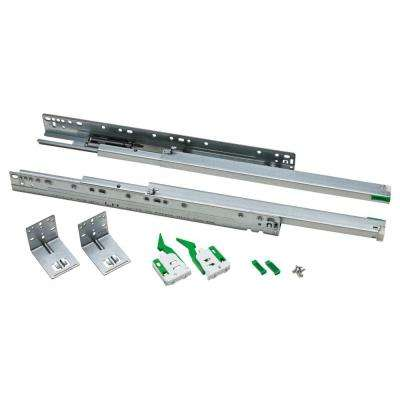 18 in. Full Extension Ball Bearing Under Mount Drawer Slide (1-Pair)