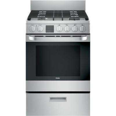 24 in. 2.9 cu. ft. Gas Range with Convection Oven in Stainless Steel
