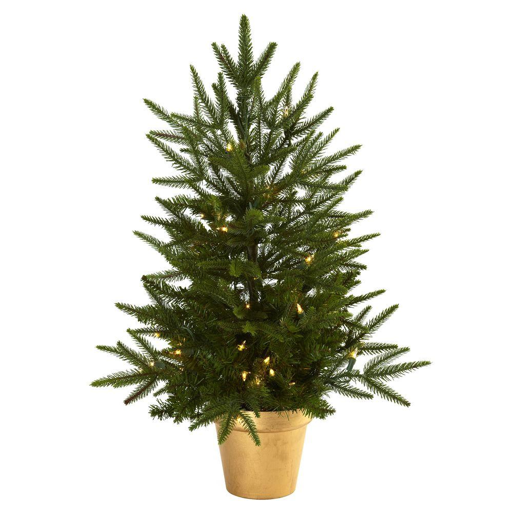 Christmas Tree Pot: Nearly Natural 2.5 Ft. Artificial Christmas Tree With