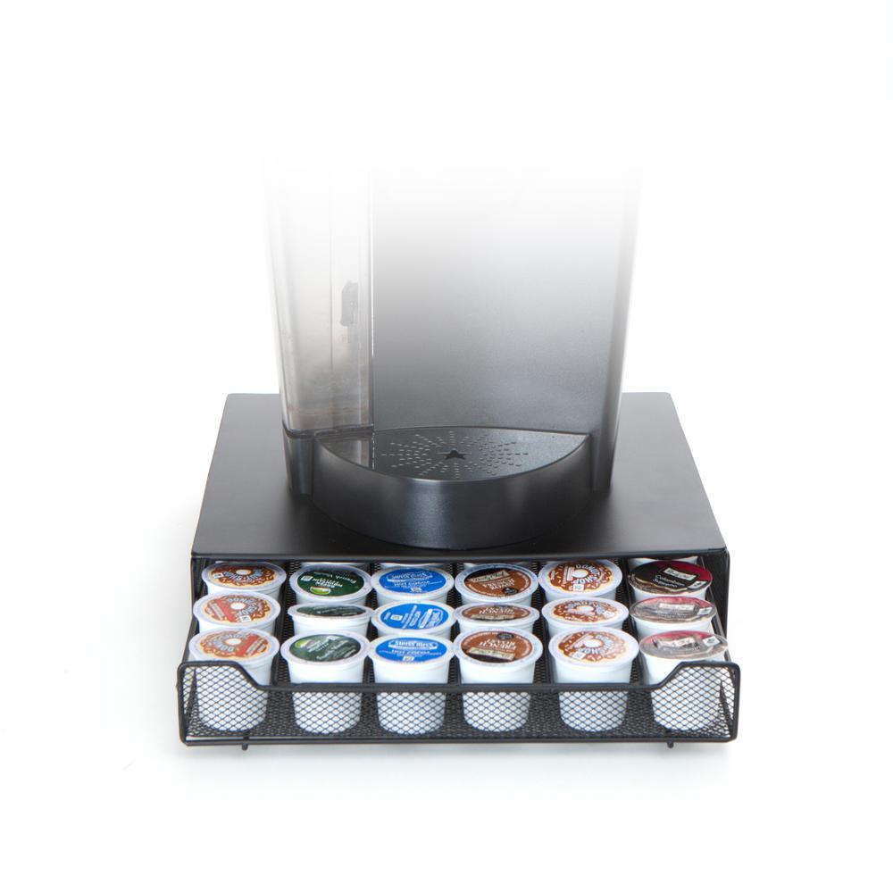 Bam 36-Capacity Metal Mesh Coffee Pod Drawer in Black