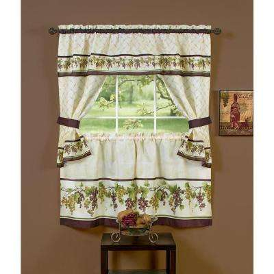 Semi-Opaque 57 in. x 24 in. Tuscany Printed Cottage Set