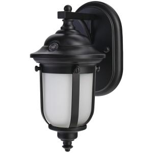 Home Decorators Collection Led Small Exterior Wall Light With Dusk To Dawn Control Dw8411bk A