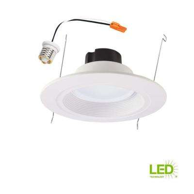 RL 5 in. and 6 in. White Integrated LED Recessed Retrofit Ceiling Light Fixture at 850 Lumens, 90 CRI, 2700K Warm White
