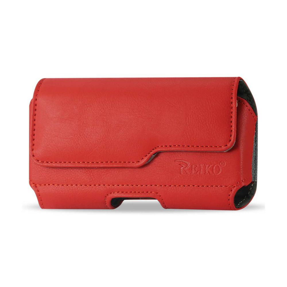 Large Horizontal Leather Holster in Red