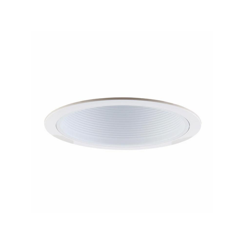 Design House 6 In Narrow Recessed Baffle Trim White