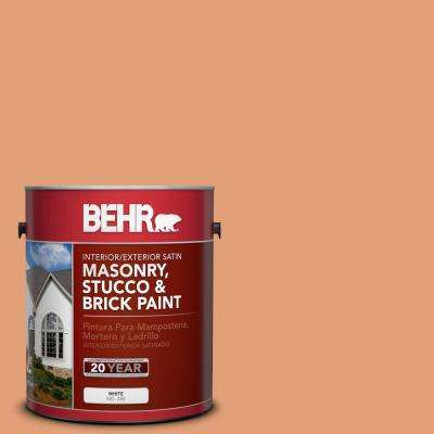 1 gal. #M220-5 Roasted Seeds Satin Interior/Exterior Masonry, Stucco and Brick Paint