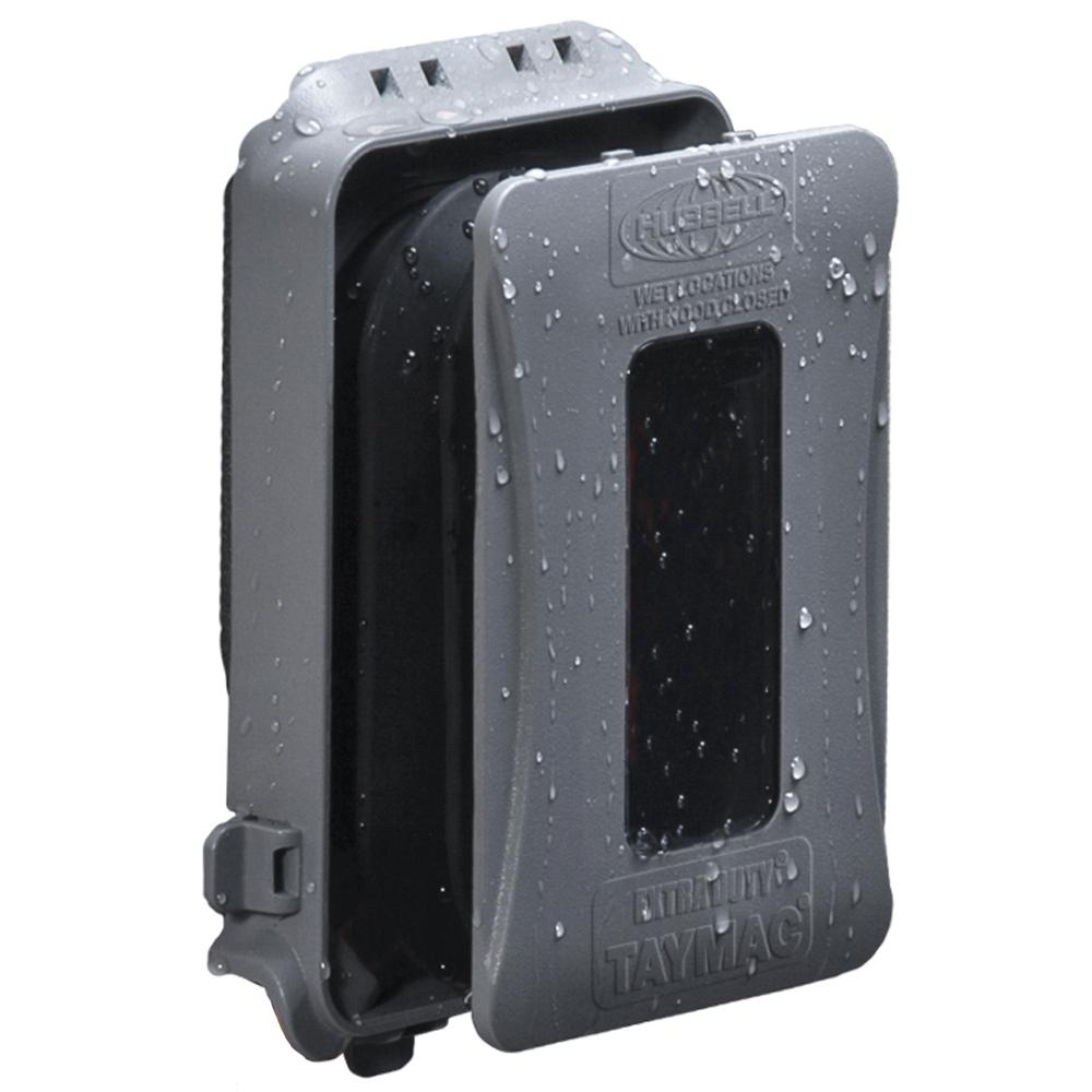 Clear TayMac MM510C Single-Gang Horizontal//Vertical Weatherproof Receptacle Cover New 3.75 Inches Deep