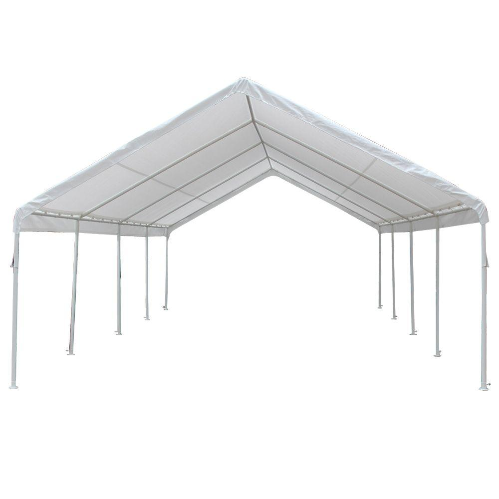 King Canopy Hercules 18 Ft W X 27 Ft D Steel Frame Canopy Hc1827pc The Home Depot