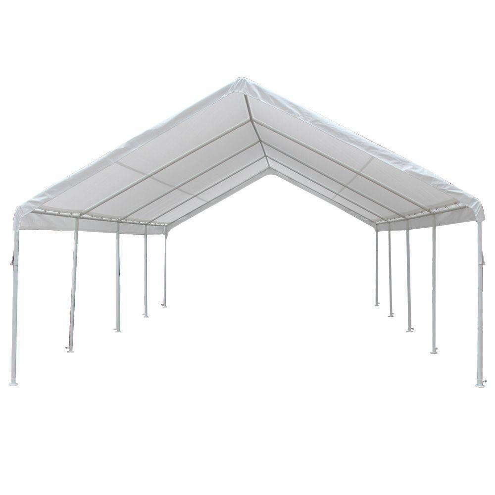 Hercules 18 ft. W x 27 ft. D Steel Frame Canopy