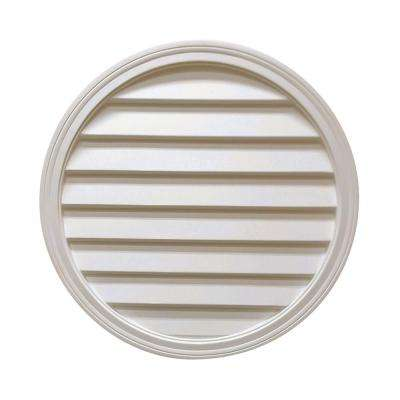 28 in. x 28 in. x 2 in. Polyurethane Decorative Round Louver Vent in White