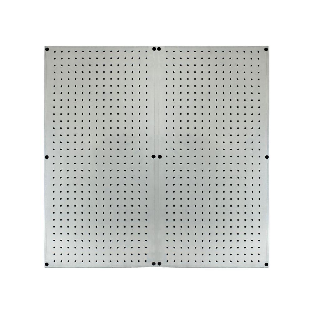 16 in. x 32 in. Galvanized Steel Pegboard (2-Pack)